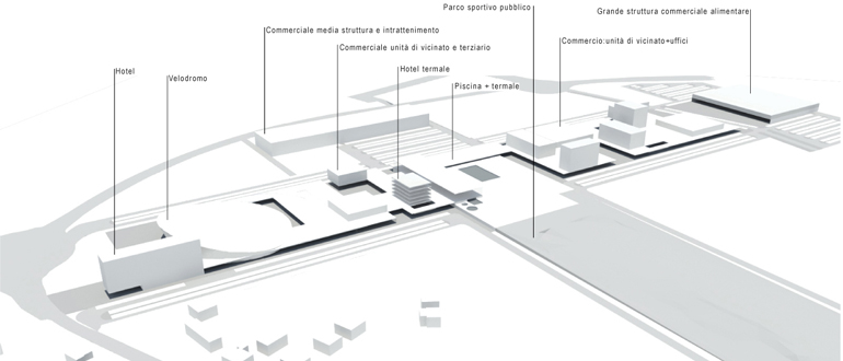 velodromo - schema 3D intervento